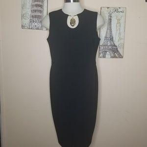 CALVIN KLEIN Women Black Dress Size 14W Plus
